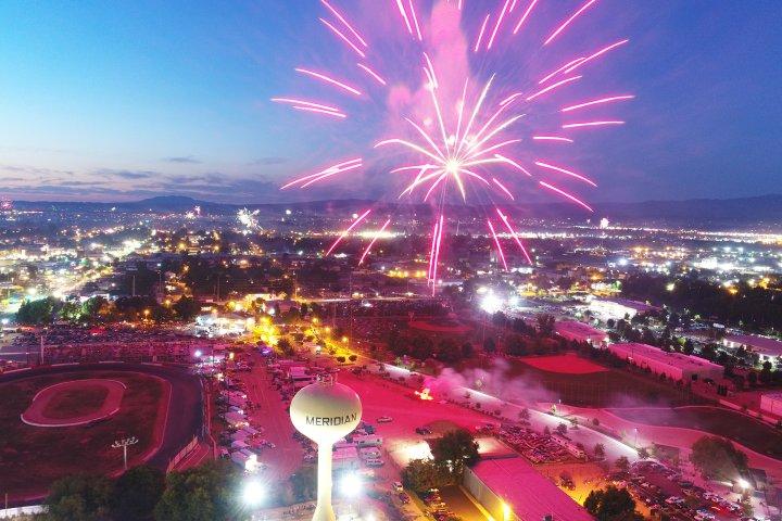 fireworks show over Meridian, Idaho