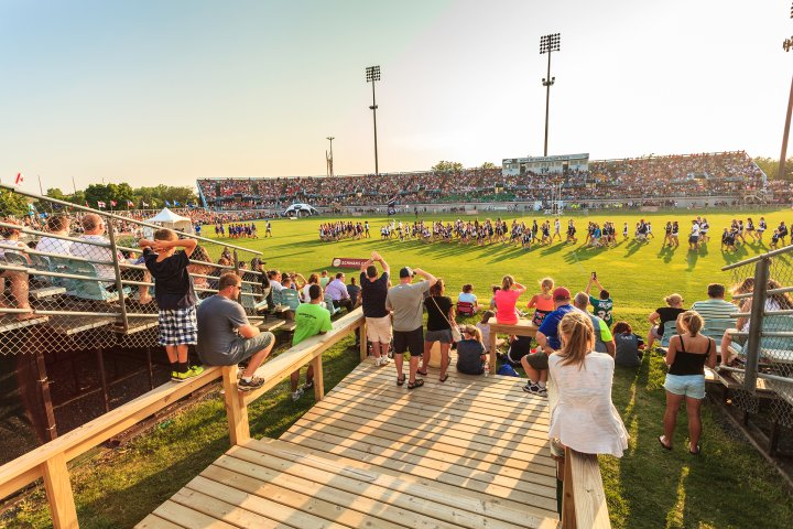 crowd at a sports event in Blaine, Minnesota