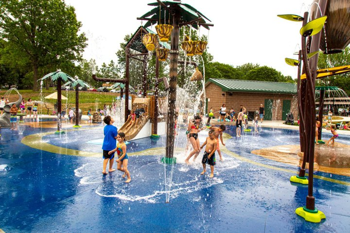 Children at a water park in Blue Springs, Missouri, a suburb of Kansas City