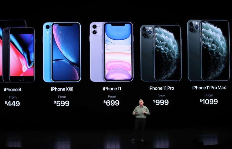 Apple's senior vice president Phil Schiller talks about the new iPhone 11 Pro during an Apple special event on September 10, 2019 in Cupertino, California.