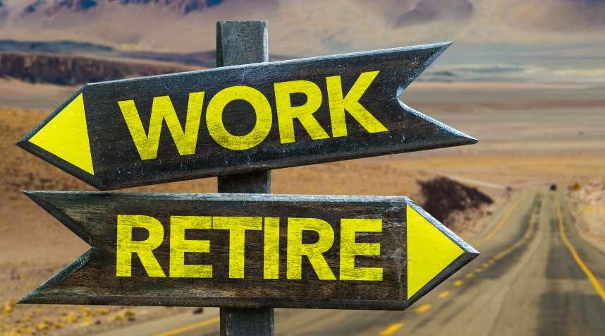 Work vs Retire crossroad