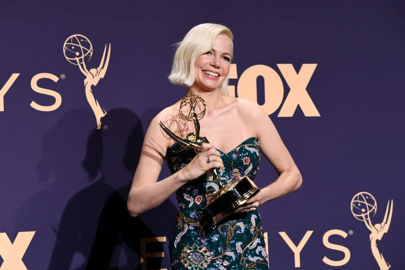 Michelle Williams poses in the press room during the 71st Emmy Awards at Microsoft Theater on September 22, 2019 in Los Angeles, California.