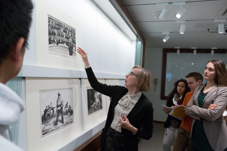 Freshman Seminar 157; Undergraduates; Art Musuem; Prof. Anne McCauley; David Hunter McAlpin Professor of the History of Photography and Modern Art. Professor of Art and Archaeology.