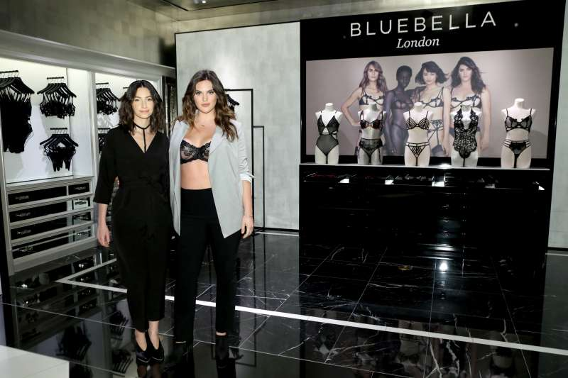 Emily Bendell and Ali Tate attend as Victoria's Secret launches the UK lingerie label Bluebella with founder Emily Bendell and campaign muse Ali Tate in New York City on October 04, 2019.