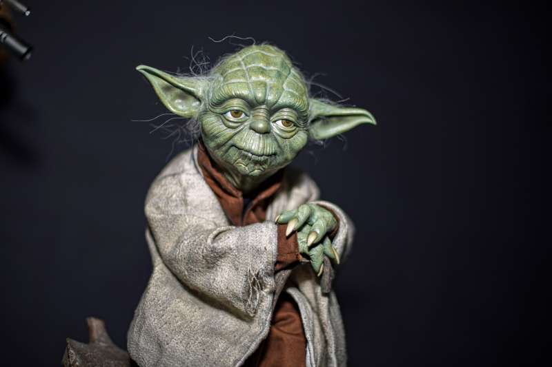 A display statue of Yoda from  Star Wars  at 2019 Comic-Con International on July 20, 2019 in San Diego, California.