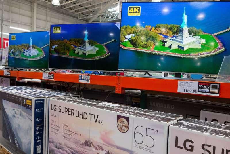 TVs on sale at Costco.