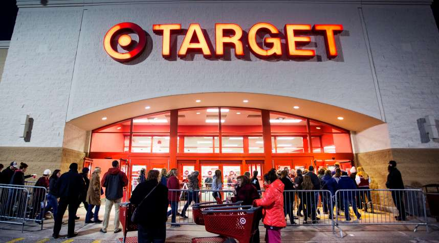 A Target store on Black Friday