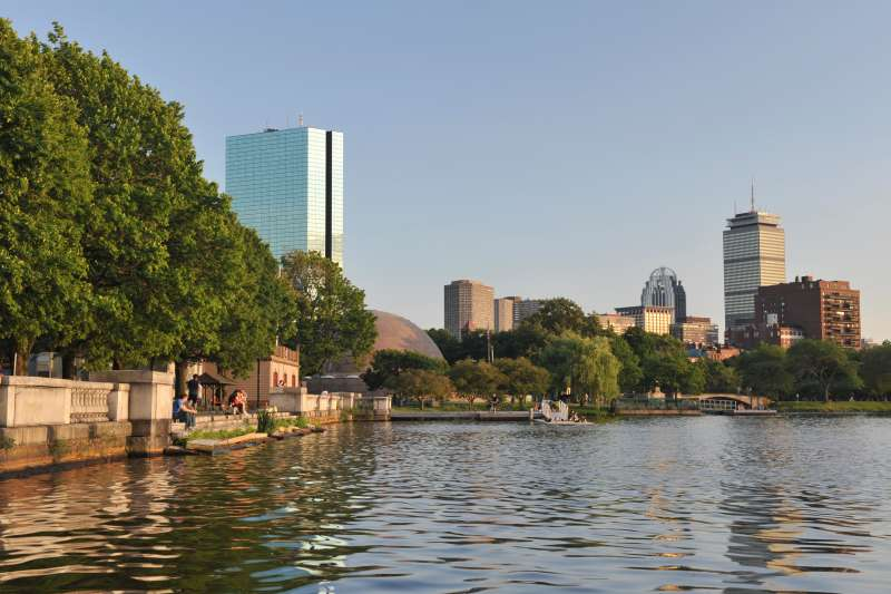 Along the Charles River, in Boston, Massachusetts.