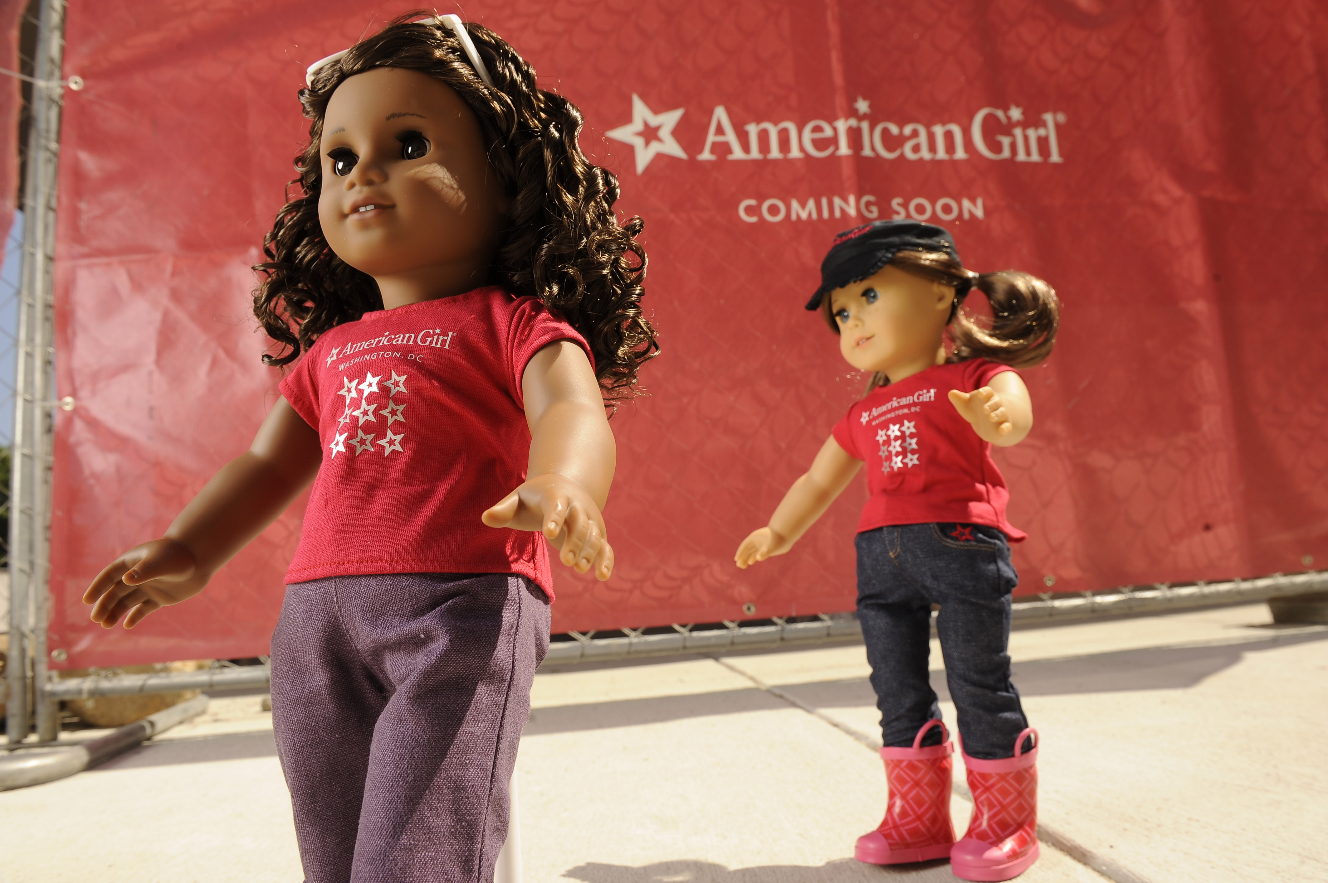 Outside the American Girl Doll store in Washington, D.C. store at Tysons Corner Center.