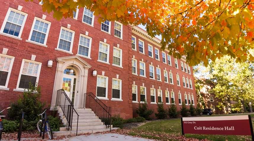 Coit Residence Hall on the quad at the University of North Carolina-Greensboro.