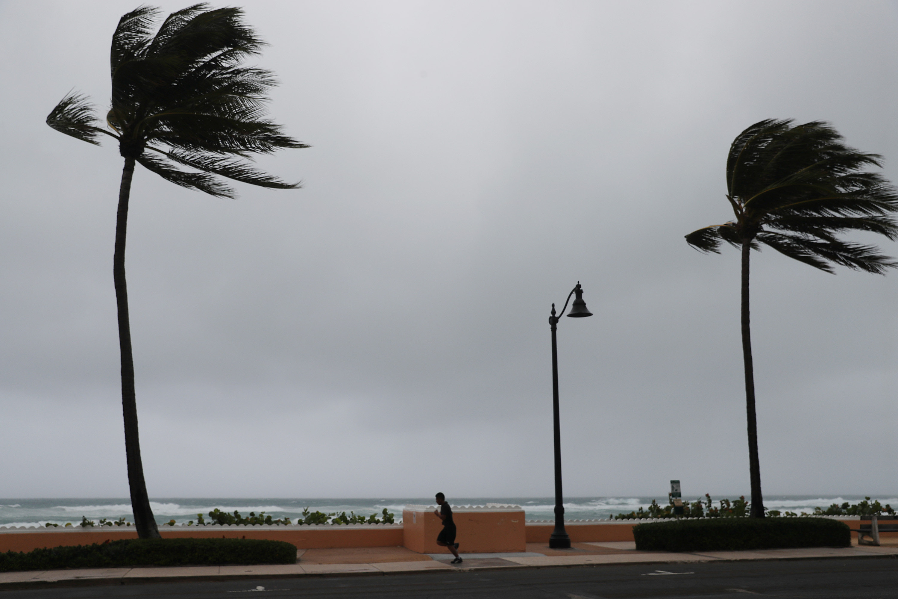 Tropical Storm Isaias passed by Deerfield Beach, Florida on August 02, 2020.