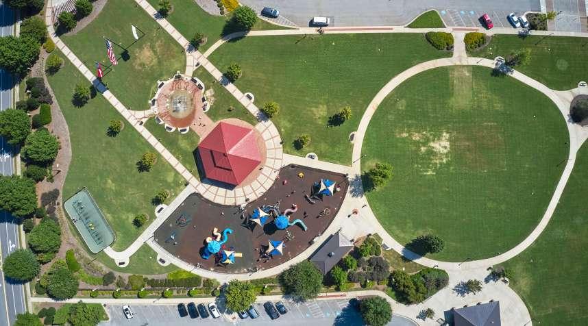 Towne Center Park in Evans, Georgia