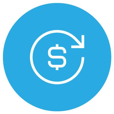 image of dollar sign enclosed in a circular arrow