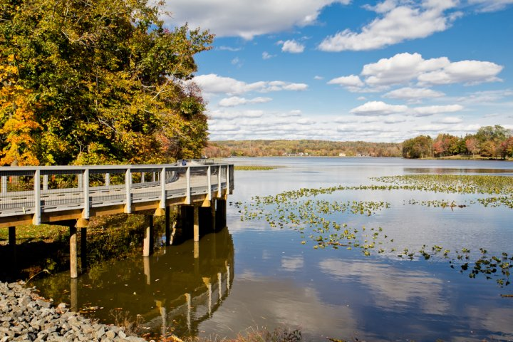 View of Congers Lake in Clarkstown New York