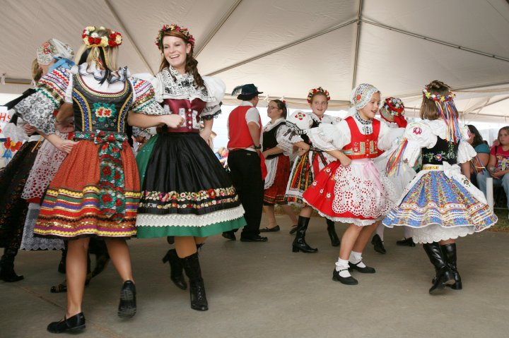 Dancers at the Czech Fest in Yukon Oklahoma
